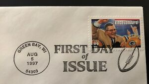 Green Bay Packers First Day of Issue August 5 1997 Vince Lombardi FDC