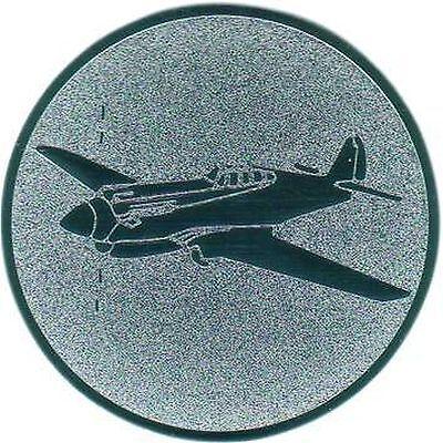 100 große Embleme Flugsport gold D:50mm (für Medaillen Pokale Pokal Medaille)