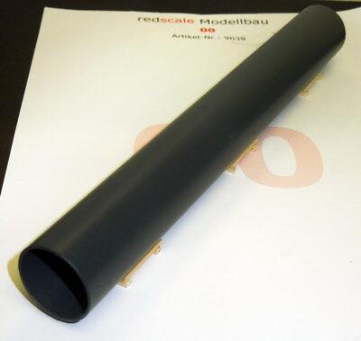 Attivo Redscale 9039 - Steel Tubo Vagone Carico 20.3cm X 2.5cm - Grigio Acciaio Calibro Ultima Moda