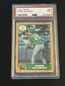 1987 Topps Mark McGwire #366 Oakland Athletics PSA 9 MINT Oakland Athletics !