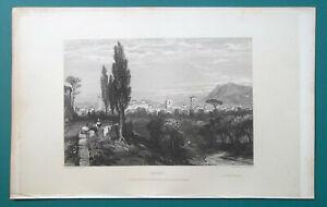 ITALY-Terni-1833-Antique-Print-Engraving