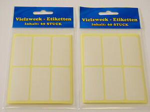 160 Klebeetiketten weiß selbstklebend Tiefkühl Gefrier Etiketten 50 x 18 mm NEU