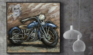 Awesome-shabby-chic-home-garage-decorative-3D-Art-motorcycle-wall-painting-Decor