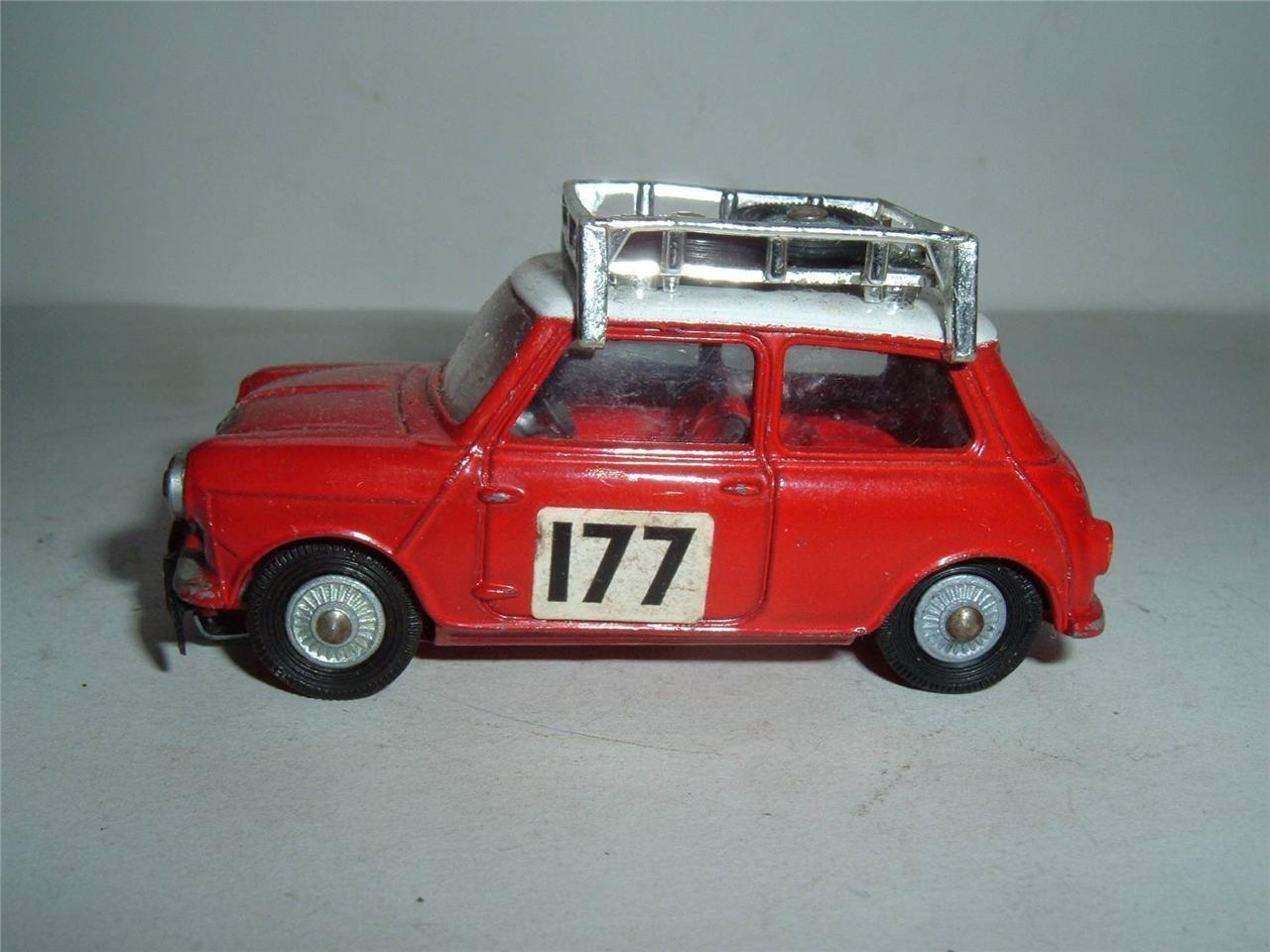 CORGI TOYS BMC Mini Cooper S Monte Carlo Rallye playworn Vintage  vedi foto