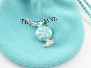Details about Tiffany & Co NEW Blue Enamel Bon Bon Candy Charm Pendant ...