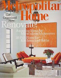 METROPOLITAN HOME MAGAZINE OCTOBER 2002 *RENOVATE!*   eBay