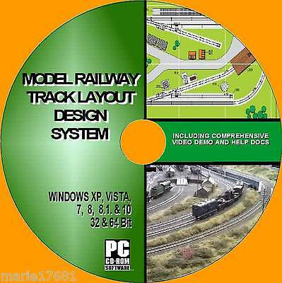 Model Railway Simple Track Layout Design Software Oo Gauge Hornby Etc New Pc Cd Ebay