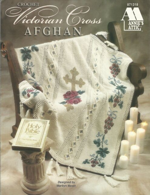 Victorian Cross Afghan Crochet Patterns Marilyn Mezer Annies Attic