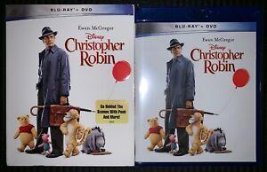 NEW-DISNEY-CHRISTOPHER-ROBIN-BLU-RAY-DVD-2-DISC-SET-WALMART-EXCLUSIVE-SLIPCOVER