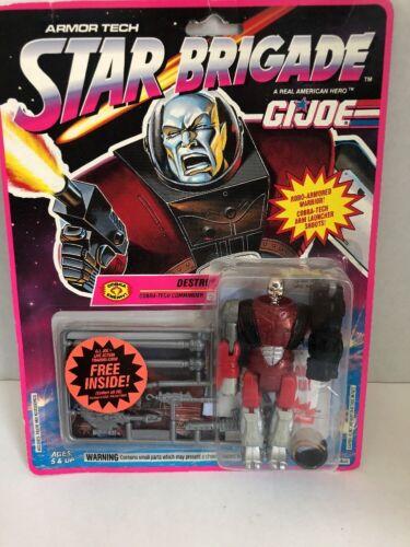 1993 G.I.Joe Cobra Star Brigade Armor Tech Destro Mint on Sealed Card