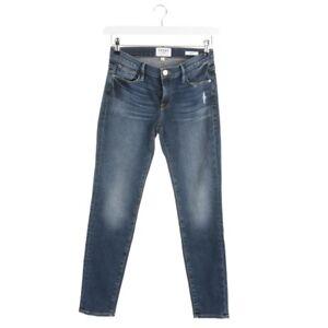 Frame-Jeans-Size-W24-Blue-Ladies-Denim-Trousers-le-Garcon-Skinny