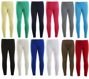 Neuf-Danse-Fille-Legging-Chaude-Extensible-100-Cotton-Leggings-Ages-2-13-An