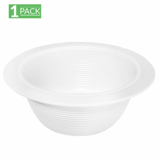 12 Pack 6 Inch White Baffle Recessed Can Light Trim