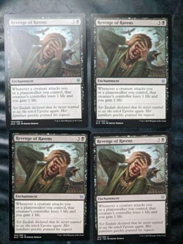Revenge of Ravens playset 4 cards Throne of Eldraine NM ELD MtG Magic
