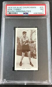 1938 Churchman's Boxing Personalities #35 GENE TUNNEY PSA 7 NM