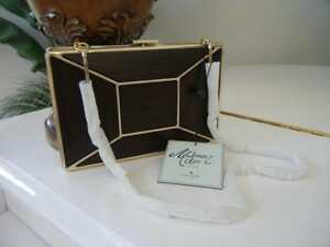 NWT-KATE-SPADE-MADISON-AVE-BOW-WOOD-FACET-EVENING-BELLES-EMANUELLE-CLUTCH-PURSE