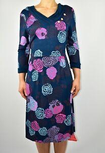 Nuevo-Vestido-Floral-De-Joe-Browns-Azul-Marino-Otono-estiramiento-de-verano-tamano-12-al