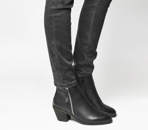 Western Side Black Boots Zip Mid Womens Office Anita xPzIIF