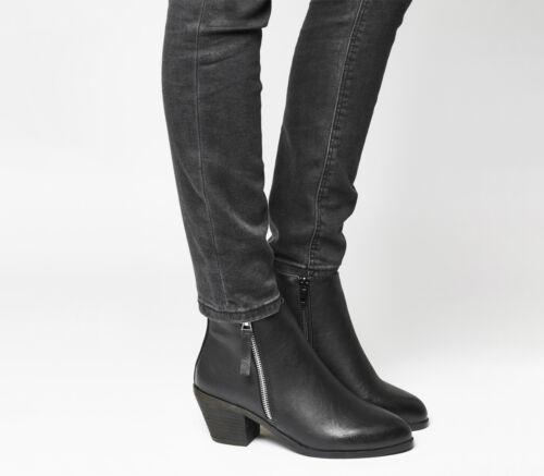 Office Anita Womens Black Boots Side Mid Western Zip 455xSqrwd