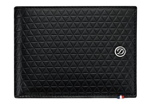 Leather Billfold Wallet Dupont 6 Credit Card S.T Fire Head Pattern 180090 NIB