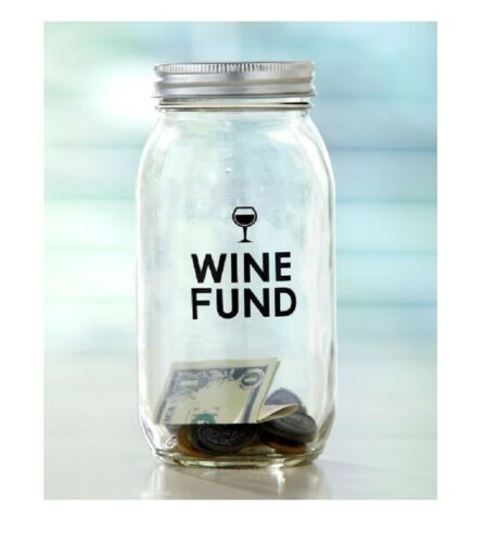 Novelty Banks Money Saving Glass Jars Swear Jar Beer Fund Wine Or Vacation Fund Home Decor Boxes Jars Tins