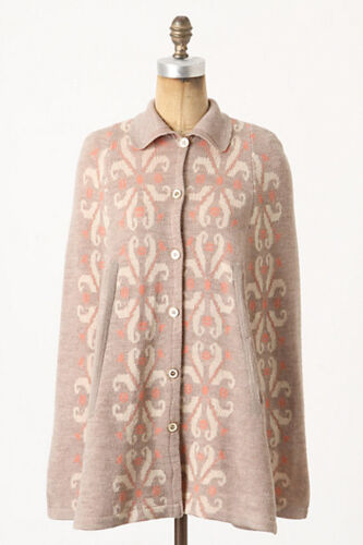 Collar M Madchen Pompona Anthropologie Button Nip Sweater Blomstrende Uld Cape 0wp5dq