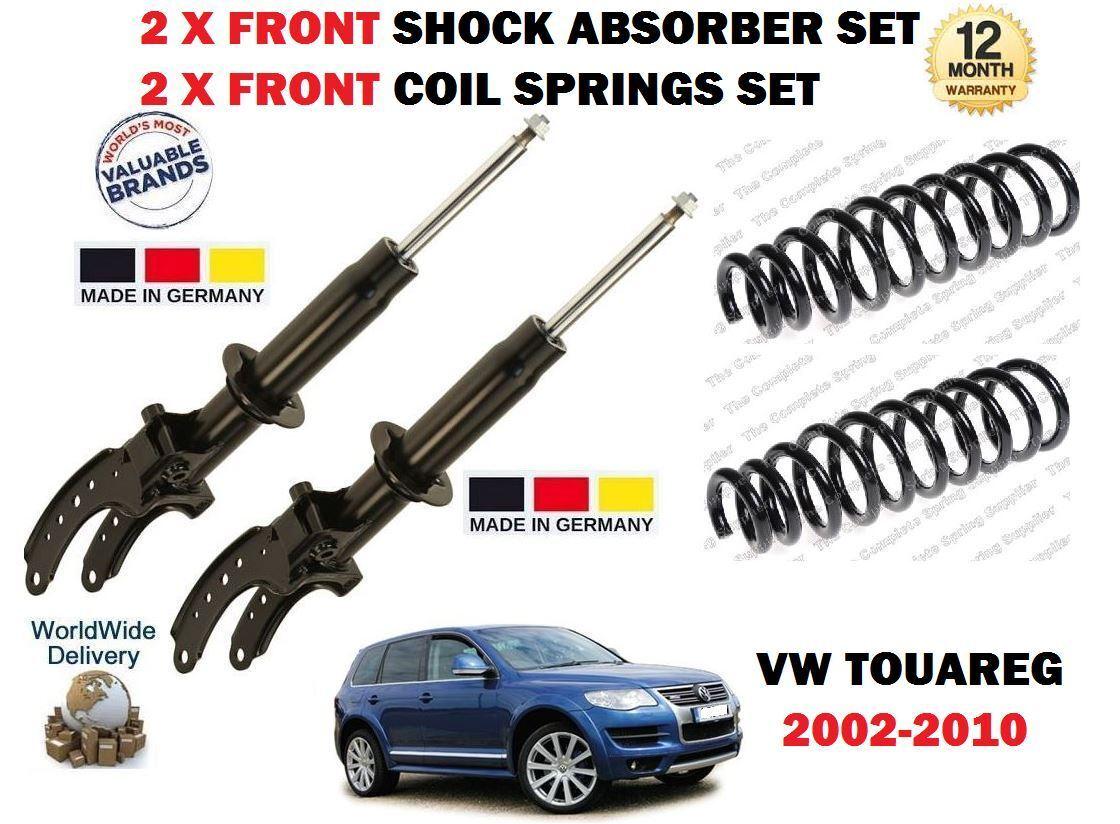 Für VW Touareg + R5 2002-2010 2 X Vordere Stoßdämpfer Satz + 2 X Fahrwerksfedern