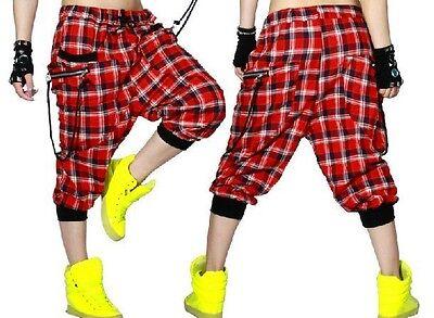 Harem Hip Hop dance Red Capris pants summer sports trousers Costume sweatpants