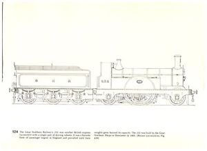 Great-Northern-232-British-passenger-Caledonian-Railway-Neilson-Locomotive-print