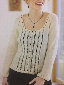 Knitting Pattern Cardigan 8 Ply : Ladys Delicate Beaded Edge Cardigan 2 Ply KNITTING PATTERN - Sizes 8-20 ...
