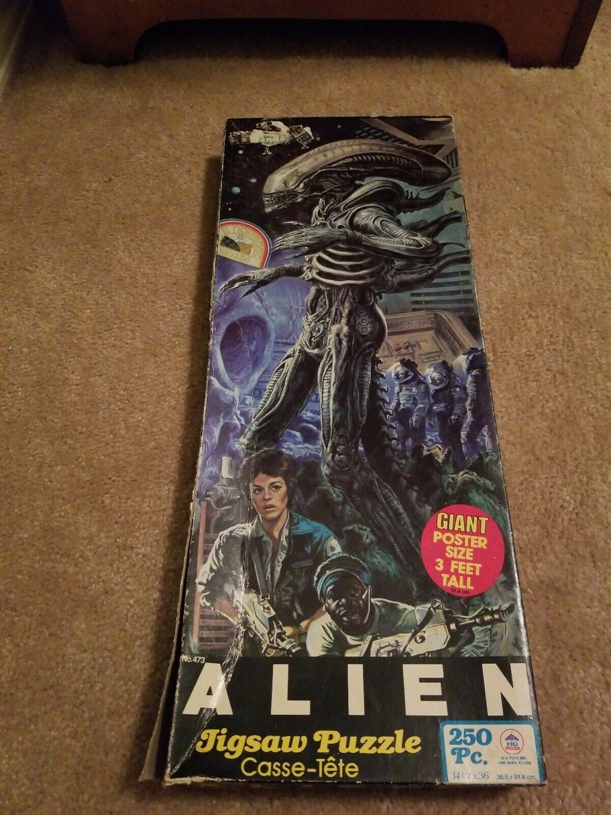 ALIEN GIANT Poster Dimensione 36  JIGSAW PUZZLE  HG TOYS 1979