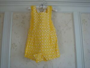 NWT-Janie-And-Jack-Girls-EYELET-ROMPER-8-Yellow