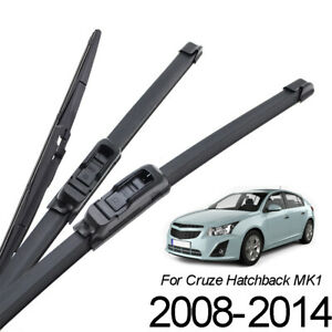 Set-of3-Front-Rear-Windscreen-Wiper-Blades-Kit-For-Chevrolet-Cruze-MK1-2008-2014