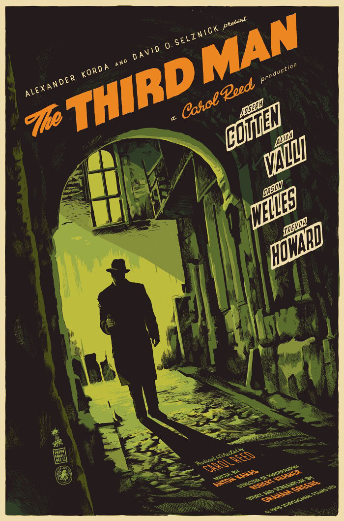 Vintage THE THIRD MAN FILM MOVIE METAL TIN SIGN POSTER WALL PLAQUE ...