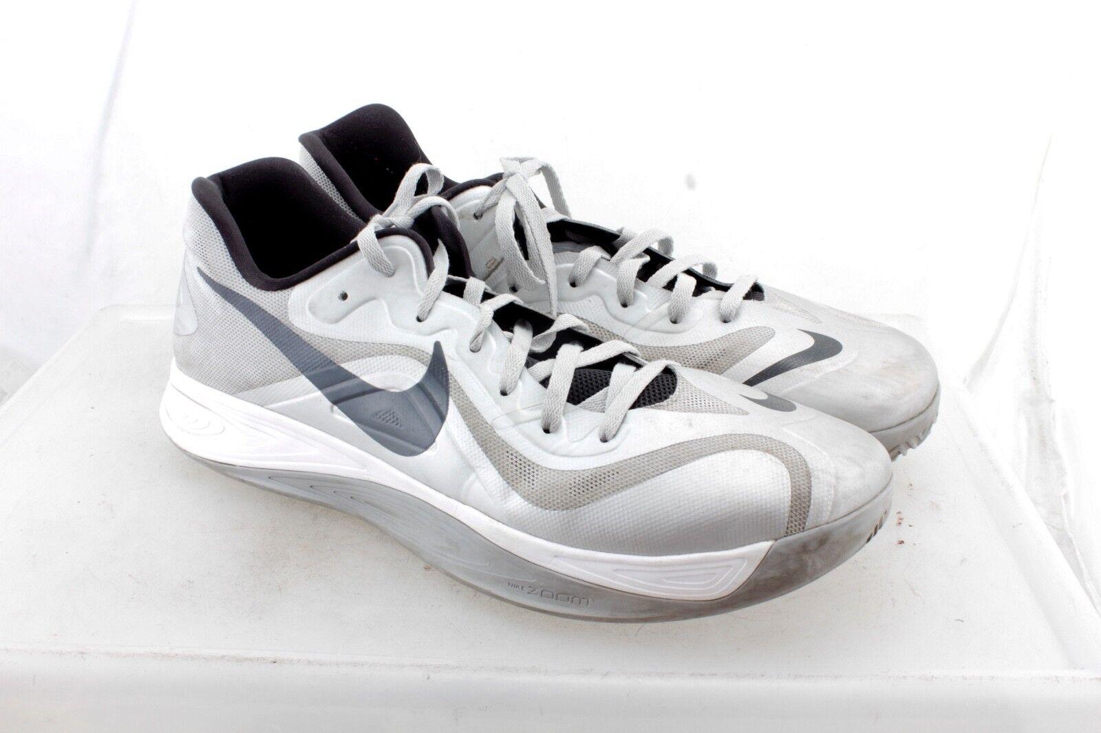 Nike Hyperfuse Men's Basketball Shoes 616620 003 Metallic Silver 17 US 51.5 EU