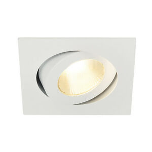 Intalite-Contone-Spot-Reglable-Carre-Blanc-13W-Led-Blanc-Chaud