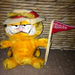 Dakin Vintage C 1981 Plush Garfield Stuffed Soft Toy Big Cat On