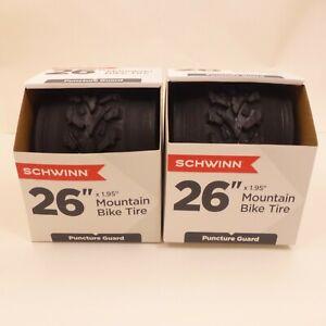 "2 SCHWINN Innova OEM 26""x1.95"" All Terrain TIRES Knobby MOUNTAIN Bikes PAIR Set"
