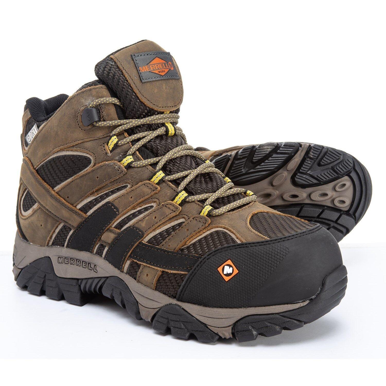 Merrell Moab 2 Vent Mid Waterproof Comp Toe Work Boots - Boulder