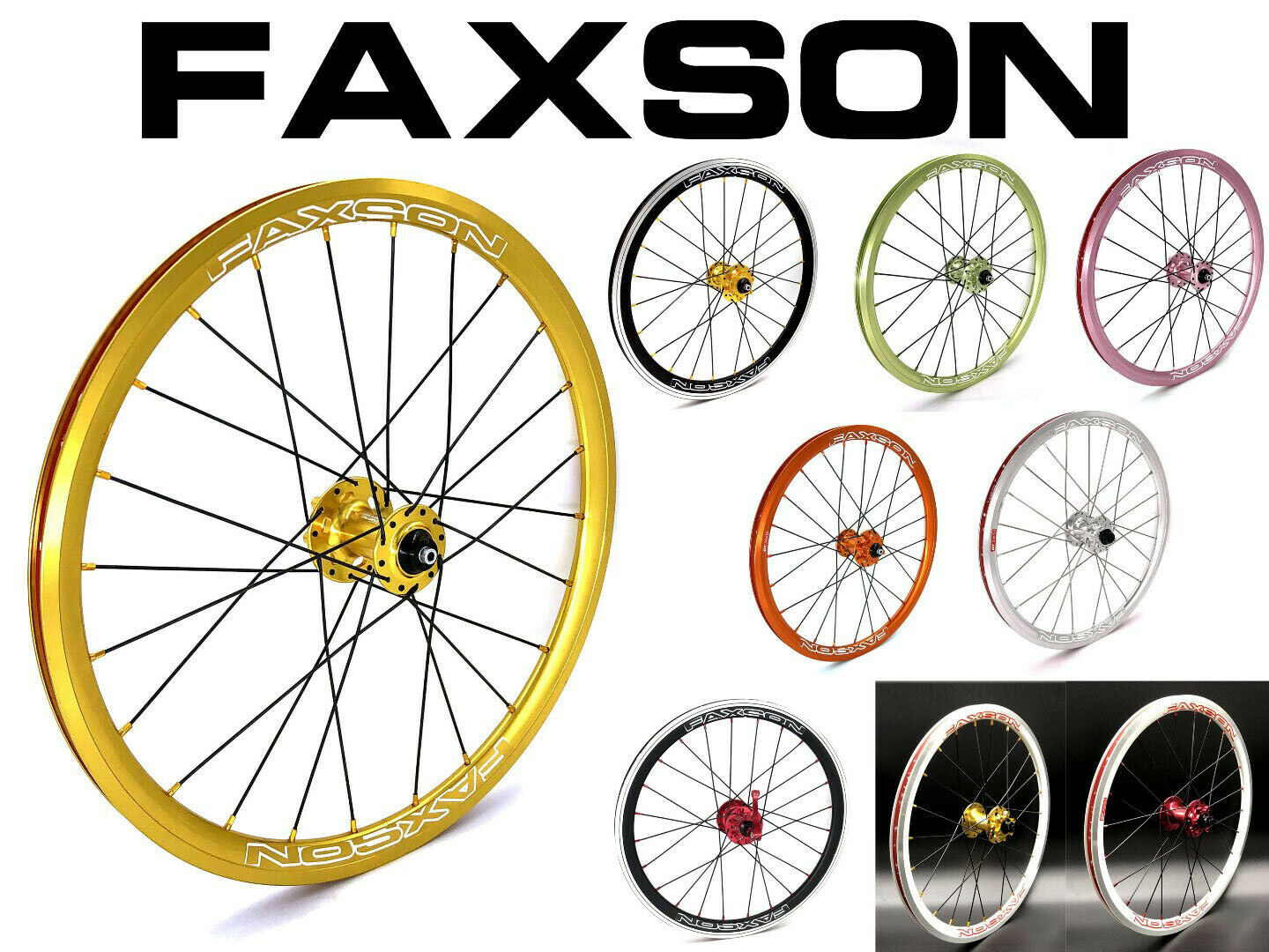 Faxson colorful Wheelset (Disc Brake) - 20 (406 451)
