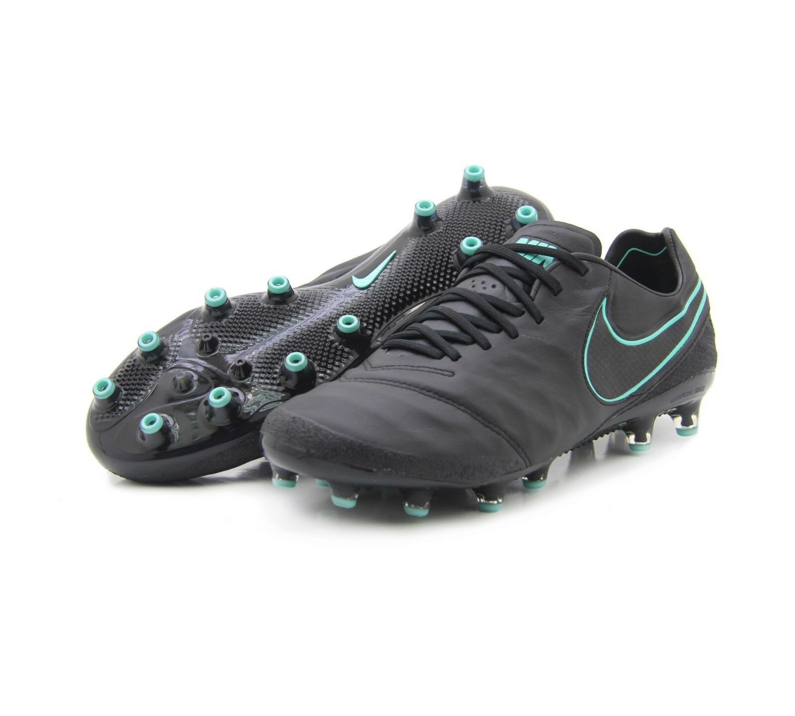 Nike Tiempo Legend VI AG-PRO 844593 004 BLACK-TURQUOISE Size 7