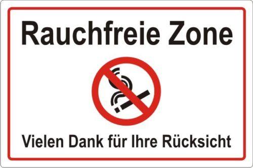 3111 Rauchfreie Zone Rauchverbot Hinweisschild No smoking Art.-Nr