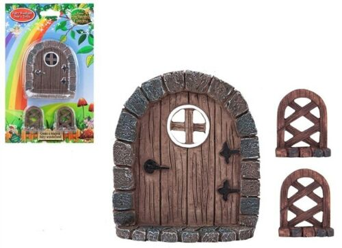 Fairy Door Trellis 3 Piece Set Woodland Miniature Forest Dolls House Fairyland