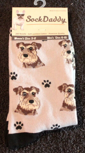 Schnauzer Uncropped Dog Breed Lightweight Stretch Cotton Adult Socks