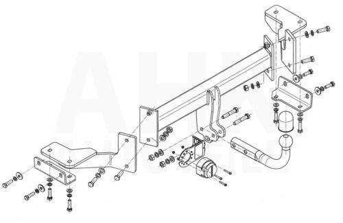 AHK Kpl. Für Hyundai Tucson 15-18 Anhängerkupplung starr+ES 13p spez