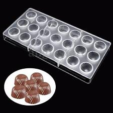 21 Hard Screw Thread Clear Polycarbonate Mould Chocolate Jelly Candy Mold Tray