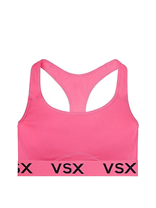 dd511f77a66d1 NWT VICTORIA S SECRET VSX THE PLAYER RACERBACK SPORT LIGHT BRA NEON PINK  SMALL