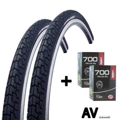 2x Author Fahrrad Reifen 28 Zoll 37-622 mit Schlauch AV Set für vorn und hinten