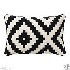 IKEA LAPPLJUNG RUTA Cushion Cover, White, Black, 100 % Cotton Decor Cover Pillow