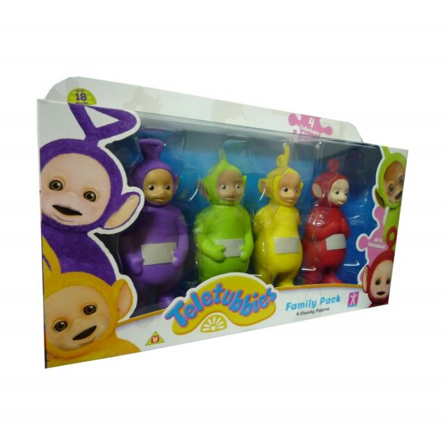 Teletubbies Toy Family Pack of 4 Teletubby Figures 12.5cm NEW BOXED